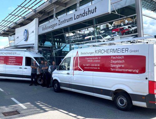 Neue Firmenfahrzeuge für die Kirchermeier Bedachungen GmbH